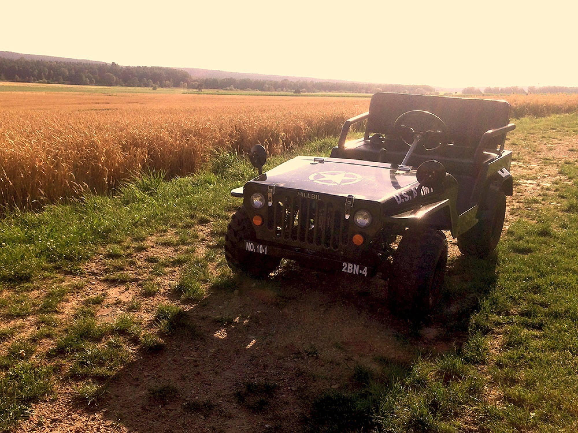 Enorm HILLBIL - u.s army willys mini jeep - mini car for children fun NS-12